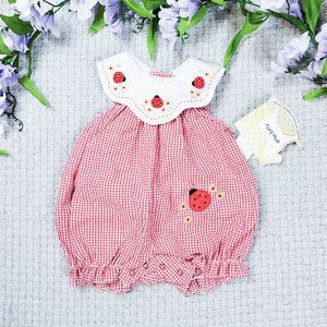 Little Bitty vintage baby girl Summer romper